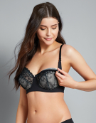 Temptation Nursing Bra in Black by Hotmilk