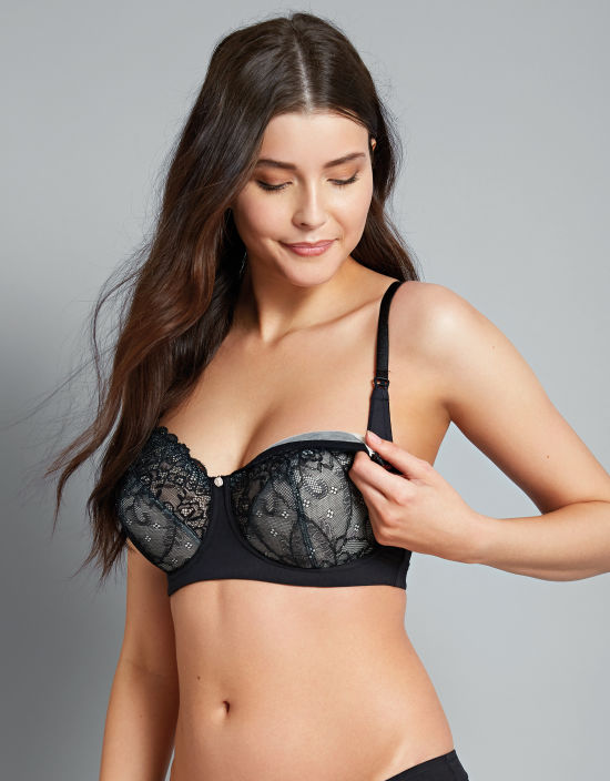 219101f1345 Temptation Nursing Bra in Black by Hotmilk