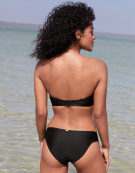 Anya Bandeau Bikini Top in Black by Panache