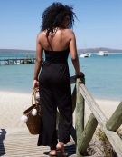 Beach Jumpsuit in Black by Bravissimo
