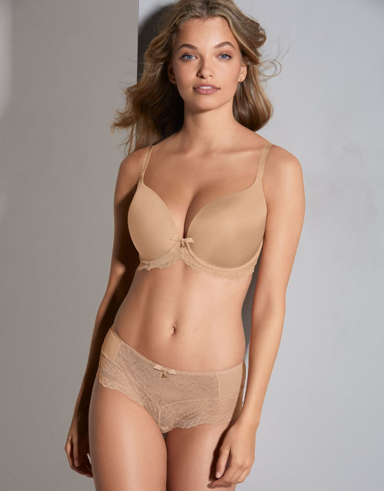 41fe4f90591e0 Superboost Lace T-shirt Plunge Bra in Nude by Gossard