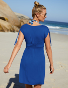 Pocket Beachdress Beach Dress in Cobalt by Bravissimo