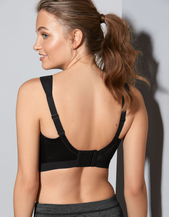 67917901f D+ Max Sports Non Wired Sports Bra in Black by Shock Absorber ...