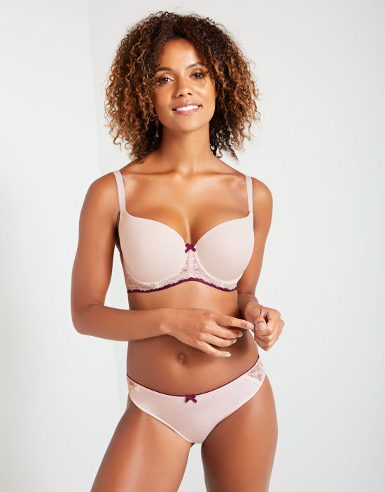 a8bf4d96133 Morgan Half-Cup Bra in Blush Pink by Cleo