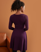 Jessica Full Skirt Dress in Plum by Bravissimo Clothing