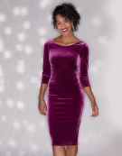 Jennifer Dress in Fuchsia by Bravissimo Dresses