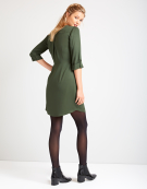 Zip Front Dress in Khaki by Bravissimo Clothing