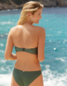 Marina Bandeau Bikini Top in Khaki by Panache