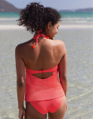 Lombok Tankini Top in Neon Coral by Bravissimo