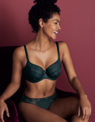 Tango Balconette Bra in Green by Panache