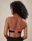 Panache Non-Wired Non Wired Sports Bra in Black/Pink by Panache Sports