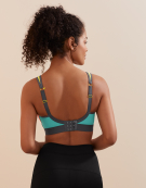 Non-Wired Sports Non Wired Sports Bra in Neon Multi by Panache