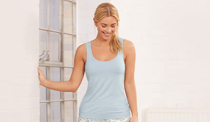 ed8268cc978374 Hidden Support Pyjamas   Pyjama Tops with Bra Support   Bravissimo