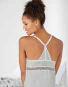 PJ Racerback Cami Top PJ Cami Top in Grey Marl by Bravissimo