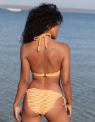 Sorrento Stripe Bikini Top in Yellow Stripe by Bravissimo
