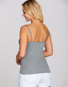 Lightly Padded Underwired Strappy Top in Charcoal Marl by Bravissimo
