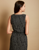 Zip Front Dress in Black Print by Bravissimo Clothing