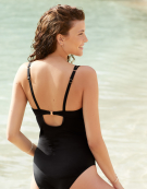 Amalfi Swimsuit Plunge Swimsuit in Black by Bravissimo