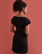 Ring Detail Dress in Black by Bravissimo Clothing