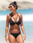 Icon Halterneck Bikini Top in Black by Miss Mandalay