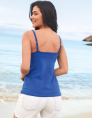 Non Padded Strappy Top in Cobalt by Bravissimo
