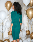 Twist Side Dress in Teal Green by Bravissimo Clothing
