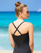 Monaco Swimsuit in Black by Bravissimo