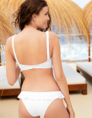 Bohemia Bikini Top in White by Freya Swimwear