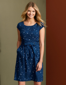 Jade Dress in Blue Mix by Bravissimo Clothing