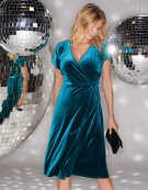 Lottie Dress in Teal by Bravissimo Clothing