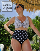 Whitsunday Bikini Top in Multi Spot by Bravissimo