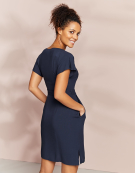 Kimono Dress in Navy by Bravissimo Clothing