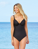 Amalfi Tankini in Black by Bravissimo