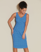 Alice Dress in Blue / White by Bravissimo Clothing