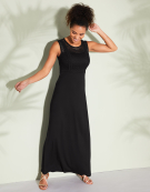 Lace Bodice Maxi in Black by Bravissimo Clothing
