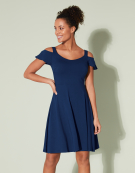 Cold Shoulder Sundress in Navy by Bravissimo