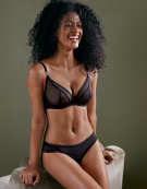 Lifestyle Plunge Bra in Black by Curvy Kate