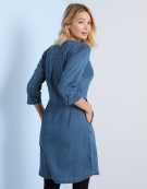 Zip Front Dress in Light Denim by Bravissimo Clothing