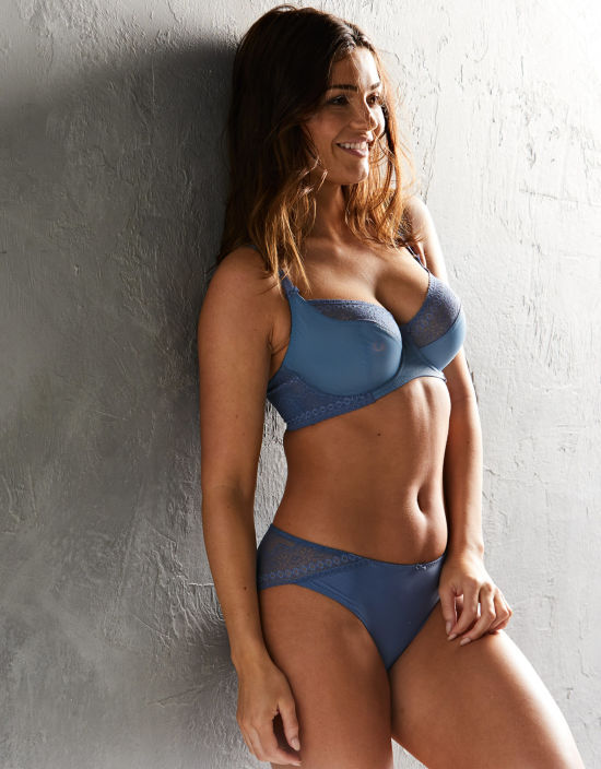 577b55859c Mia Balconette Bra in Dusty Blue by Bravissimo