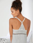 Racerback Cami Nightdress Camisole in Grey Marl by Bravissimo