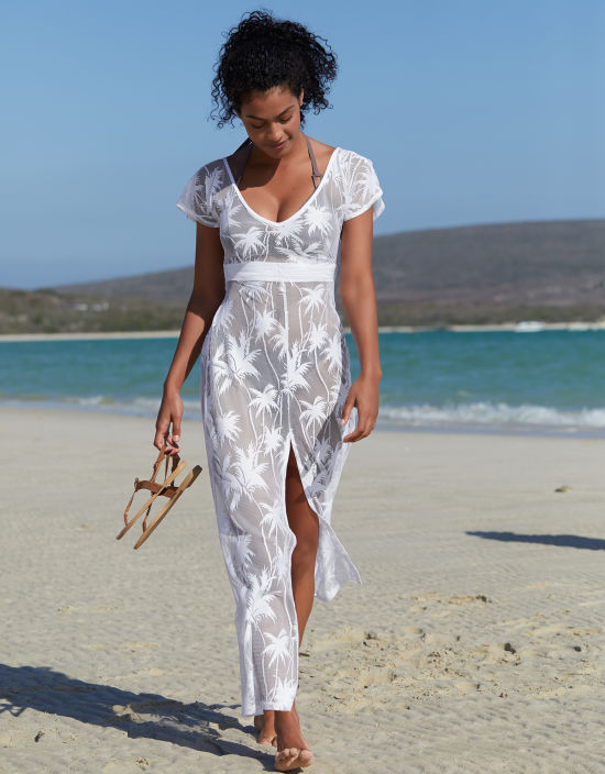 148e459bce5a Maxi Beach Dress in White by Bravissimo