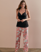 Printed PJ Bottoms in Floral Print by Bravissimo