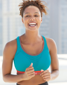 Run Non Wired Sports Bra in Aqua by Shock Absorber