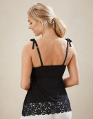 PJ Cami Top in Black by Bravissimo
