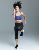 Run Non Wired Sports Bra in Purple by Shock Absorber