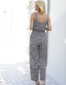 Wrap Front Jumpsuit in Charcoal Mix by Bravissimo Clothing