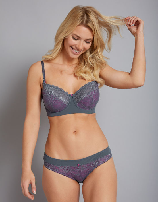 c8c857c0b1e Temptation Nursing Bra in Grey by Hotmilk