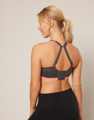 Dynamic Sports Non Wired Sports Bra in Charcoal/Coral by Freya