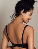 Isla Balconette Bra in Black by Rougette