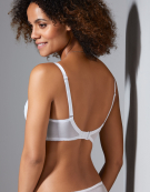 Superboost Lace Plunge Bra in White by Gossard